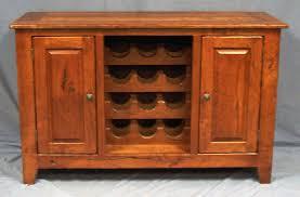 Rustic Cherry Wine Cabinet
