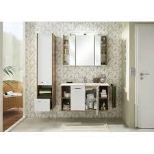badezimmer spiegelschrank in riviera eiche 3 türig inkl led