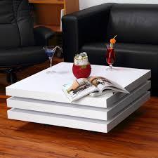 couchtisch beistelltisch wohnzimmertisch tisch designertisch weiß eckig hochglan