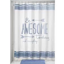 Be Awesome Shower Curtain Novelty Shower Curtains