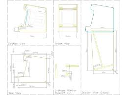 Diy Mame Cabinet Kit by Chair Wood Plan Arcade Cabinet Plans Pdf
