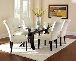 High Dining Room Tables And Chairs by Dining Room Glass Table With Leather Chairs Small Kitchen Dining