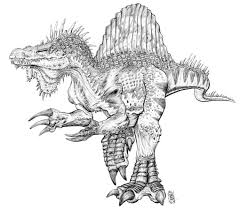 Beautiful Spinosaurus Coloring 46 On Picture Page With