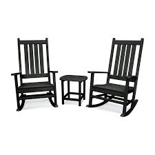 Black Outdoor Rocking Chairs Black Slat Patio Rocking Chair Durogreen Classic Rocker Black 3piece Plastic Outdoor Chat Set Presidential Recycled Wood Patio Rocking Chair By Polywood Shop Intertional Concepts Slat Seat Palm Harbor Wicker Grey At Home Trex Fniture Yacht Club Charcoal Americana Style Windsor Jefferson Woven With Tigerwood Weave Colby Cophagen Cushioned Rattan Armchair Glider Lounge Cushion Selections Chairs At Lowescom