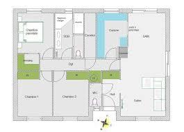 plan maison en l plain pied 3 chambres plan maison 90m2 3 chambres 6 de traditionnelle gratuit plain pied 2