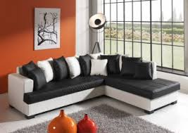 canapé noir et blanc canapé d angle design en pu noir blanc eros canapé d angle cuir