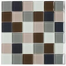 Smart Tiles Mosaik Multi by Shop Elida Ceramica Multi Glacier Uniform Squares Mosaic Glass