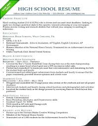 Government Resume Samples High School Sample Accounting Australian