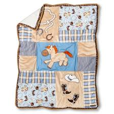 Trend Lab 3pc Crib Bedding Set – Cowboy Baby Tar