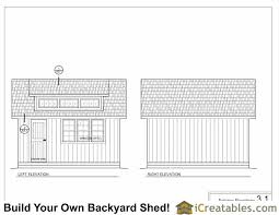 12x12 Shed Plans With Loft by 12x16 Shed Plans With Dormer Icreatables Com