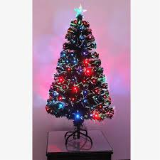 3ft Pre Lit Berry Christmas Tree by Shatchi Products 4ft 120cm Pre Lit Led Fibre Optic Christmas Tree