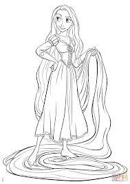 Princess Rapunzel Coloring Pages 13