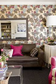 pink pillows family room transitional with brown sofa throw
