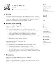 Resume Samples Hair Stylist Hairdresser For Sample Example Template Salon Ha Objective Examples