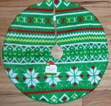 Christmas Tree Skirt Sweater Knit Fair Isle Mini