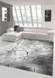 designer teppich moderner teppich wohnzimmer teppich stein optik in grau schwarz