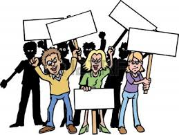 Angry crowd in line clipart Free Angry crowd in line clipart