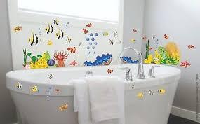 wandtattoo meeresbewohner fische badezimmer ozean