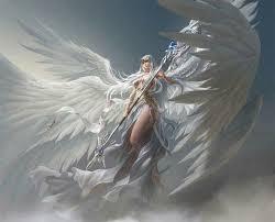 No Signature By Artist Beautiful Warrior Angel