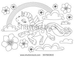 Coloring Pages Little Cute Pony In The Sky