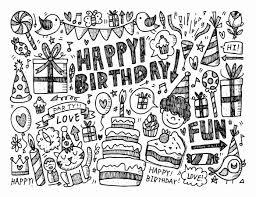 Doodle To Color Happy Birthday