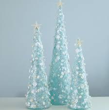 Seashell Christmas Tree Garland by Beach Decor Aqua Shell Christmas Tree Nautical Decor Blue