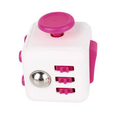 Fidget Cube White With Pink Bugs Bikes Inc