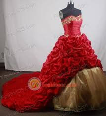 Romantic Ball Gown Strapless Floor Length Red Vintage Quinceanera Dress LZ426066