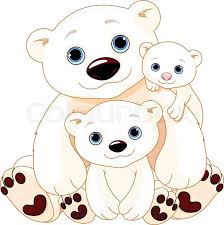Illustration Of Mommy And Daddy Bears With Their Babies