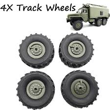 100 16 Truck Wheels 4pcs Upgrade Track For 1 WPL B14 C24 RC Car Off Road