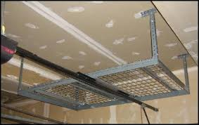 Hanging Drywall On Ceiling Trusses by Overhead Garage Storage Racks Monsterrax Installation Instructions