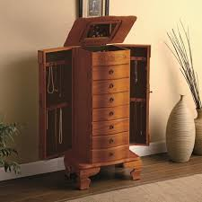 Brown Wood Jewelry Armoire - Steal-A-Sofa Furniture Outlet Los ... Necklace Holder Beautiful Handmade Armoire Jewelry Box Of Exotic Woods Fniture Best Wood Storage Material Design For Bedroom Outstanding Kohls Walmart Cherry In Decor Pretty Of Perfect Ideas Sale 28500 Classic Oak Coaster Co Wallmounted Locking Wooden 145w X 50h In Cabinet Organizer With 6 Drawers Armoires Hillary Rich Walnut Hives And Honey With Used Jewelry Armoire Abolishrmcom Readers Gallery Fine Woodworking Belham Living Swivel Cheval Mirror Hayneedle