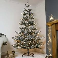 7ft Christmas Tree Pre Lit by Pre Lit Green Snow Effect Real Feel Pe Imperial Spruce Artificial