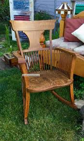 Gorgeous Handmade Amish Style Solid Oak Curved Back Rocking Chair ... Innovative Rocking Chair Design With A Modular Seat Metal Frame Usa 1991 Objects Collection Of Cooper Hewitt Horse Plush Animal On Wooden Rockers With Belt Baby Glider Fresh Tar New Nursery Coaster Transitional In Black Finish Value Hand Painted Rocking Chairs Childs Rockers Hand Etsy Outdoor Wicker Legacy White Modern Marlon Eurway Gloucester Rocker Thos Moser Fniture Gliders Regarding Gliding Replica Eames Green Chrome Base Beech Valise Plowhearth