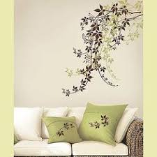 Green Painted Wall Paint Decals Decorations Modern Stencils Virginia Painting Home Flowers Beautiful