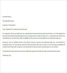 how to write rejection letter for unsuccessful applicants