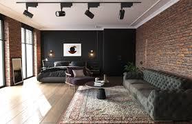 industrial style loft interior 3d model
