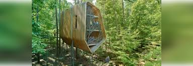 100 Tree House Studio Wood A Twisting Treehouse By Modus Studio Blooms Above The Forest
