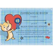 Tarjeta Diploma Novio Oso Alegre Cargando Corazon