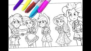Suddenly My Little Pony Equestria Girl Coloring Pages MLP For Kids Girls