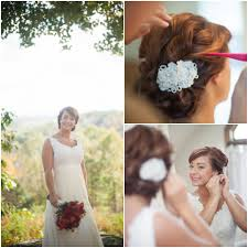 Country Wedding Brides Dress And Hair