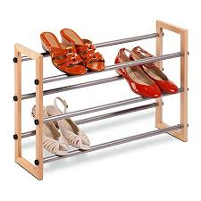 3 Tier Wood & Metal Shoe Rack — honeycando