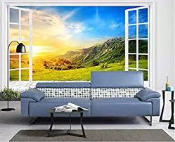 bodentiefe fenster benutzerdefinierte fototapete wohnzimmer