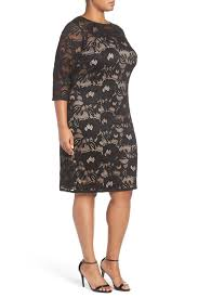 adrianna papell carol lace sheath dress petite u0026 plus size