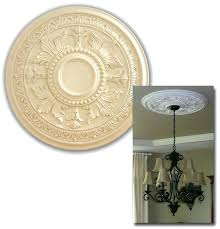 Small Two Piece Ceiling Medallions by Installing A Two Piece Ceiling Medallion Fan Split Contemporary