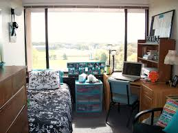 Cool Boys Dorm Room Ideas With Wooden Desk And Single Bed Next To Ample Window