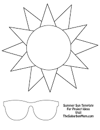 Have The Kids Trace Sun Shape Onto Orange Paper And Sunglasses On To Black