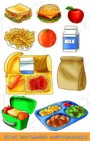 Back To School Lunch Food For Kids Clipart Set Created By I365art