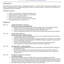 Personal Banker Resume Objective