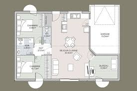 plan de maison 2 chambres plan de maison 2 chambres plan maison chambres plain pied with plan